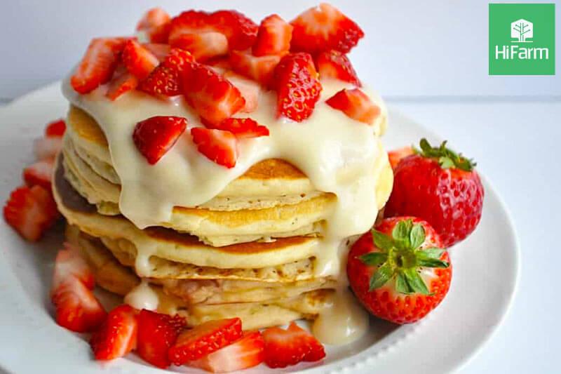 Bánh dâu tây pancake thơm ngon hấp dẫn – món bánh gắn kết yêu thương