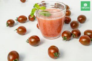 bầu ăn cà chua dầm đường