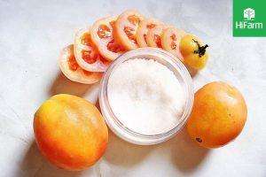 Làm trắng da bằng cà chua và đường