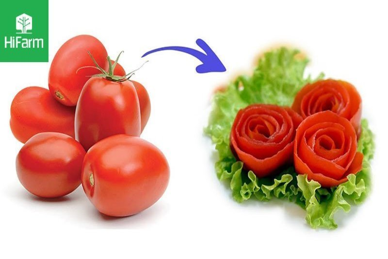 Tỉa hoa từ cà chua