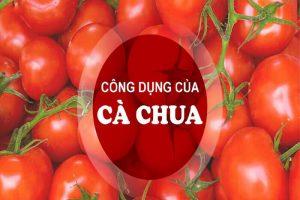 Bất ngờ khi biết các công dụng của cà chua