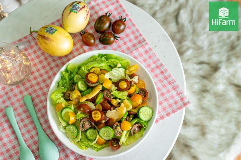 Salad rau mầm cà chua - Món ngon cho làn da, vóc dáng hoàn hảo
