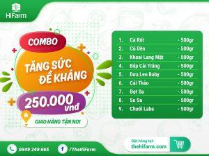 combo rau củ quả Đà Lạt - 250k
